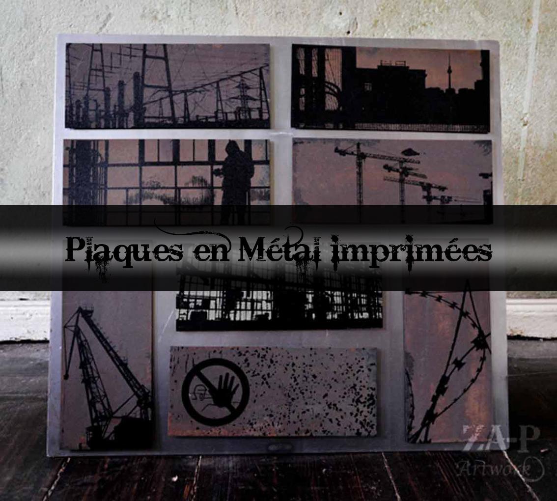 Plaques en métal