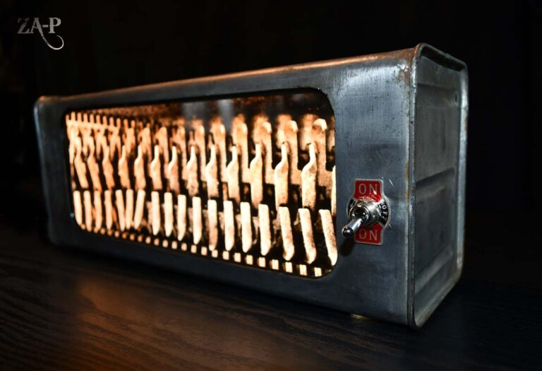 """MATRIXE Bidon essence Shell recyclé / ampoules LED / impression photo """"Textures"""""""